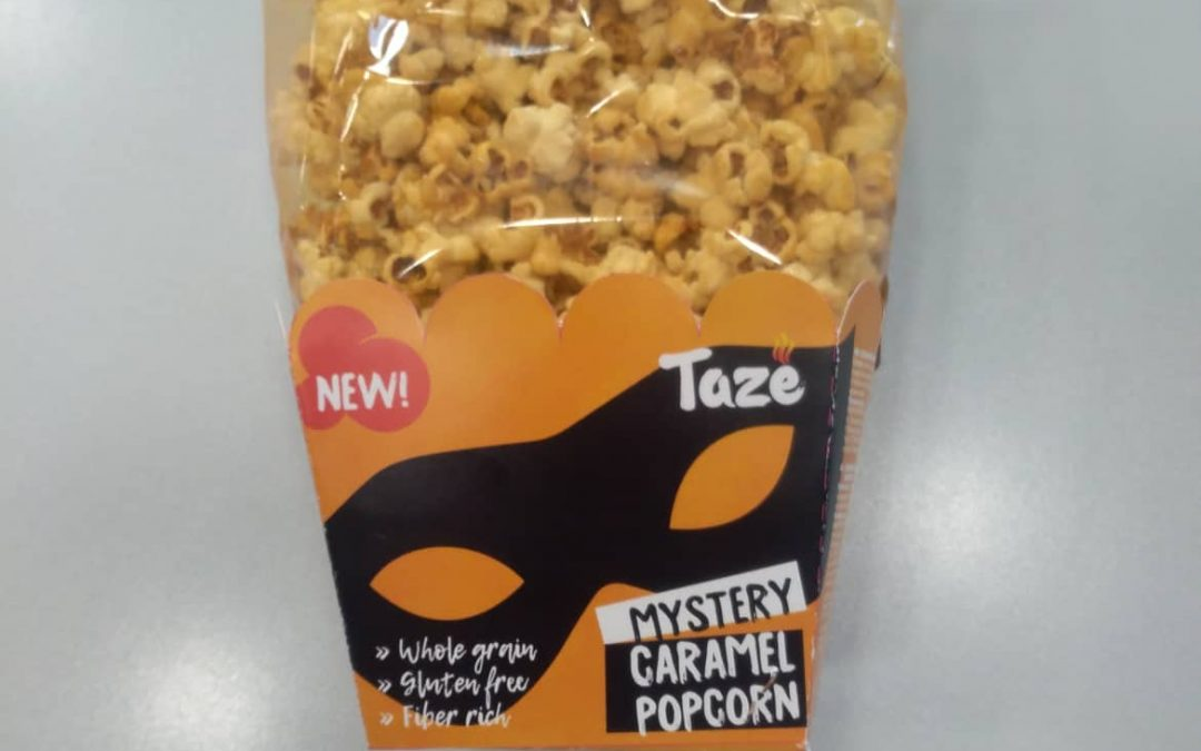 Sweet popcorn with caramel